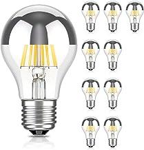 ledscom.de E27 Hoofdspiegel LED Lamp Filament A60 6W =55W warm-wit 710lm voor binnen en buiten, 10st.