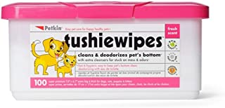 Petkin SPPPOA094399 Tushie Wipes, 100 Pack