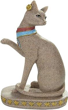 Bastet Statue Goddess Figurine, Egyptian Cat Sculptures Home Decor, Fertility Cat Goddess of Protection Decoration Ornaments,