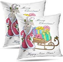 Darkchocl Set of 2 Daily Decoration Throw Pillow Covers Classic Grinch Merry Grinchmas Square Pillowcase Cushion for Couch Sofa or Bed Modern Quality Design Cotton and Polyester 18 x 18
