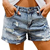 Pantalones Cortos de Mezclilla adelgazantes de Cintura Alta de Verano para Mujer Small