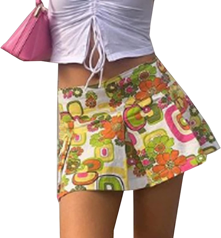 Women Lace Patchwork High Waist A Line Mini Pleated Skirts Harajuku Gothic Y2k Ruffle Short Skirt E-Girl Streetwear