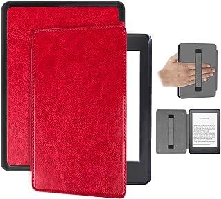 Capa Kindle Paperwhite 10ª geração à prova d'água – Auto Hibernação – Fecho Magnético – Alça leitura - Vermelha