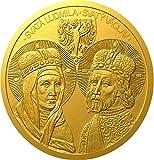 Power Coin St Ludmila and Wenceslas 2 Oz Moneda Oro 100$ Niue 2021