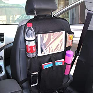 Car Backseat Organizer with Touch Screen Tablet Holder, Multi Pockets Kick Mats Car Seat Back Protectors, Car Seat Back Or...