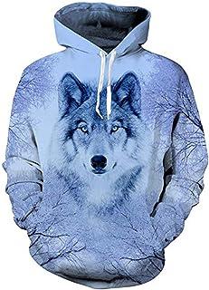 Sudadera con capucha unisex 3D, realista, de forro polar con bolsillo de canguro para hombre, mujer, adolescentes, de UNIFACO