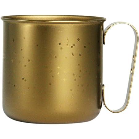 ホリエ チタンデザインマグカップ ボーダー&星 スター(チタンゴールド) TMA-205A
