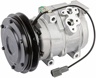 AC Compressor & A/C Clutch For John Deere & Komatsu Replaces SE502087 4436025 20Y9796120 20Y9796121 Denso 10S15C 24v - BuyAutoParts 60-03445NA NEW