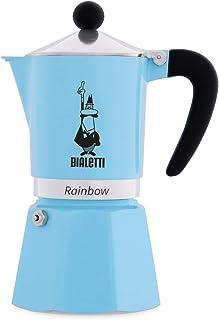 Bialetti 5042 Rainbow Espresso Maker, Light Blue