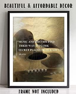 Plato Music Quotes Wall Art- 8 x 10