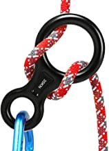 AOKWIT Rescue Figure 8 Descender Climbing Gear Downhill Equipment 35KN/3500kg 7075 Aluminum Alloy Rigging Plate for Climbing Belaying and Rappeling Device