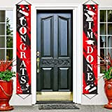 Graduation Banner I'm Done BannerGraduation Porch Sign Congrats Banner Graduation Party Decoration for Graduation Party Supplies Prom Party Grad Photo Booth Props House School Classroom (Red)