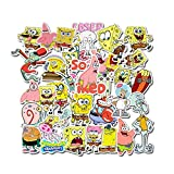 50Pcs/Pack Spongebob Stickers Cartoon for Motorcycle Notebook Laptop Luggage Bicycle Skateboard