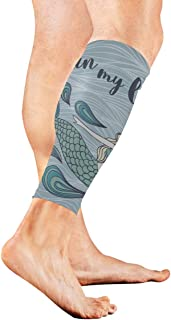 Beautiful Cute Mystical Mermaid Calf Compression Sleeve Leg Compression Socks For Shin Splint Calf Pain Relief Men Women And Runners Improves Circulation Recovery
