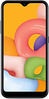 TracFone Samsung Galaxy A01 4G LTE Prepaid Smartphone - Black - 16GB - Sim Card Included -CDMA