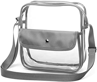 Clear Purse, F-color Concert Stadium Approved Clear Bag, BTS, NFL, NCAA Approved Cross body Bag for Women Men