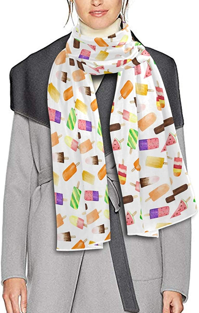 Scarf for Women and Men Watercolor Fruit Ice Cream Shawl Wraps Blanket Scarf Warm soft Winter Long Scarves Lightweight