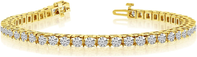14k Yellow Gold 6 Jacksonville Mall Ct. specialty shop Tennis Bracelet Classic Diamond