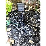 Kleine Teichfolie,Gartenteich Fische Wasserpflanze Teichfolie Verdicken Durchstoßfestigkeit Geomembran Plane, Anpassbar (Color : Black, Size : 7x5m)