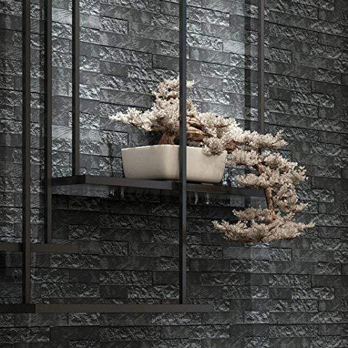 AliKEEY 60 x 60 x 0,78 cm ❤ ️ PE schuim 3D behang knutselen wandsticker wanddecoratie reliëf steen muursticker tegels PE schuim keuken slaapkamer woonkamer badkamer 3D wandtattoo decoratie huis 60 X 60 X 0.78cm grijs.