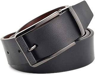 Men's Belt Pin Buckle Simple Wide Belt Plus Long Business Suit Casual Detachable Adjustable Buckle Belt Long 130 cm (Color : Coffee)