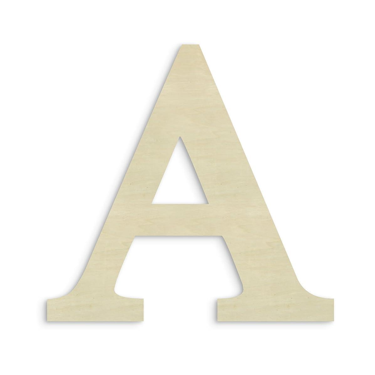 UNFINISHEDWOODCO Oversized Unfinished Wood Letter, 18-Inch, Alpha