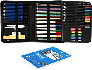 74pcs/set Professional Drawing Kit Sketch Pencils Art Sketching Painting Supplies with Carrying Bag