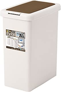 サンコープラスチック ゴミ箱 キッチン分別ワンプッシュ 26.5L ライトブラウン