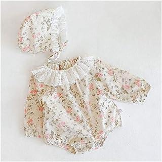 XYAN XYAN Säuglings-Baby-Strampler Baby Langarm-Grid-Spitze-Kragen-Bekleidung Strampler Frühling und Herbst-Baby-Body Farbe : K3467 Apricot, Kid Size : 3T