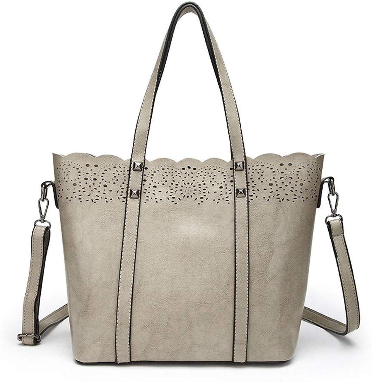 Messenger-Bags Damen Hohl Einzelne Schulter Mode Mode Mode Künstliche Öl Wachs Leder Handtasche Grau B07JX9KDD8  Gewinnen Sie hoch geschätzt 3726ef