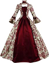 Moonhomen Medieval Dress for Women Renaissance Vintage Retro Long Sleeve Cosplay Lace Floor Length Dresses