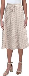 LAUREN RALPH LAUREN Mitered-Stripe Cotton Skirt
