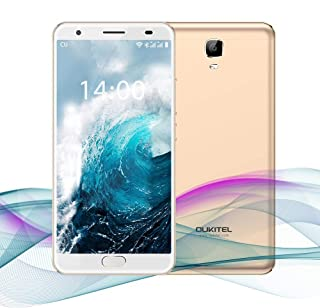 "OUKITEL Ok6000 Plus 5.5"" FHD 6080mAh Big Battery Fast Charging Unlocked Cell Phone, Android7.0 Octa Core, Dual SIM, 4GB RAM+64GB ROM, 0.1s Front Touch ID, 8MP+16MP Camera Fingerprint Smartphone(Gold)"