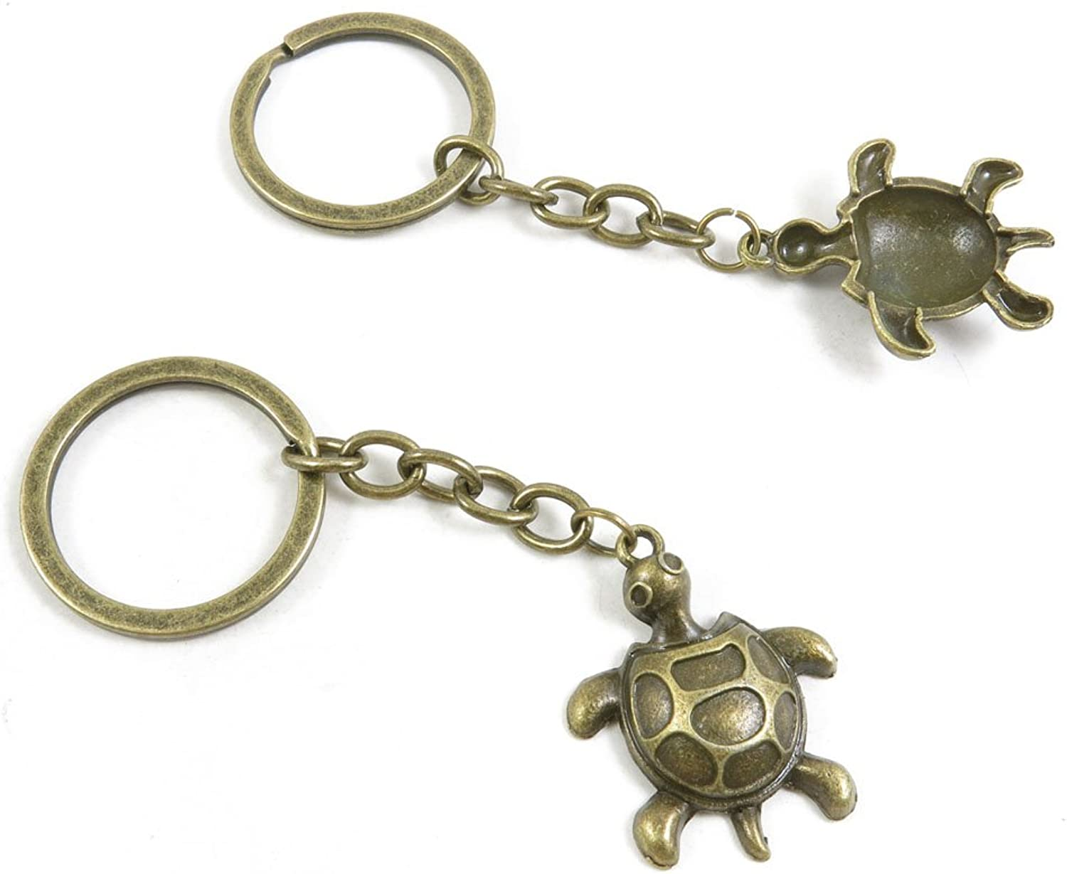 160 Pieces Fashion Jewelry Keyring Keychain Door Car Key Tag Ring Chain Supplier Supply Wholesale Bulk Lots H3AH7 Turtle Tortoise
