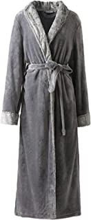 Dressing Gown Ladies Mens Long Winter Long Sleeve V Comfortable Sizes Neck Flannel Sauna Coat Comfortable Soft Thicken War...