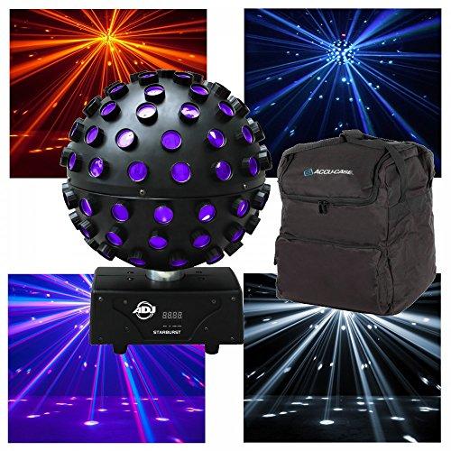American DJ Starburst 75W RGBWA UV drehbare 360° Spiegelkugel Hex Party Effekt Licht & Tasche