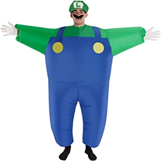 Super Mario Luigi Wario and Waluigi Halloween Costume Also Available in Inflatable and Piggyback