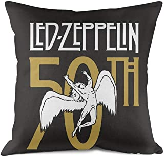 PILLEIO Led-zeppelin-50th-anniversary- Cute Chair Protective Throw Pillow Cover 18x18 Inch Home Decoration