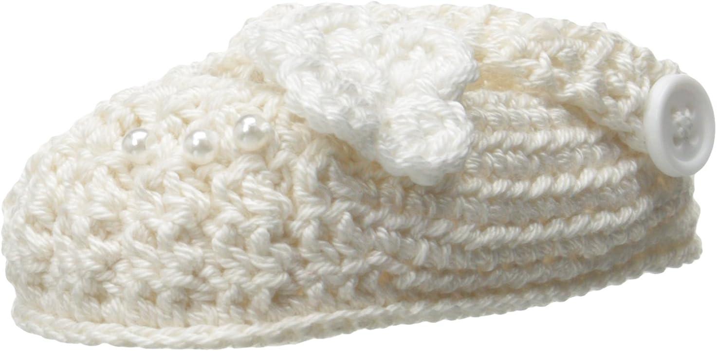 Jefferies Socks Baby Girls' Newborn Delicate Flower Crochet Bootie