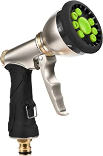 Vintoney Garden Hose Spray Gun, 9 Adjustable Patterns Hose Spray Gun, Anti-Slip Design, High Pressure Hose Nozzle/Hose Gun...