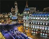 YUMUYAO 1000 Piezas Puzzle Edificio Metrópolis Madrid Rompecabezas para Niños Adultos Juego Creativo Rompecabezas Navidad Decoración del Hogar Regalo