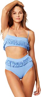 LSpace Women's Fringe Presley Fringe Bralette Bikini Top