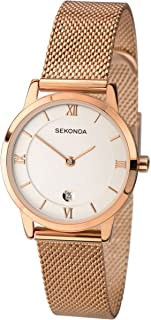 Womens Analogue Classic Quartz Watch with Stainless Steel Strap 2482.27