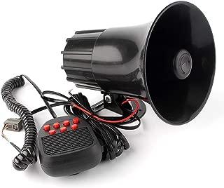 GZYF 12V 100W 7 Sound Siren Air Horn Speaker PA System Warning Alarm Fits Auto Car Van Truck Boat