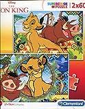 Clementoni Supercolor Puzzle-Lion King-2 x 60 piéces-Disney, 21604, Multicolore