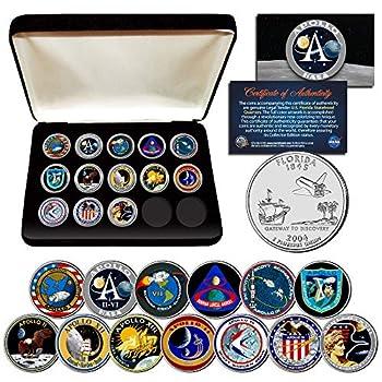 Apollo Space Missions U.S Quarters 13-Coin Complete Set NASA Program with Box