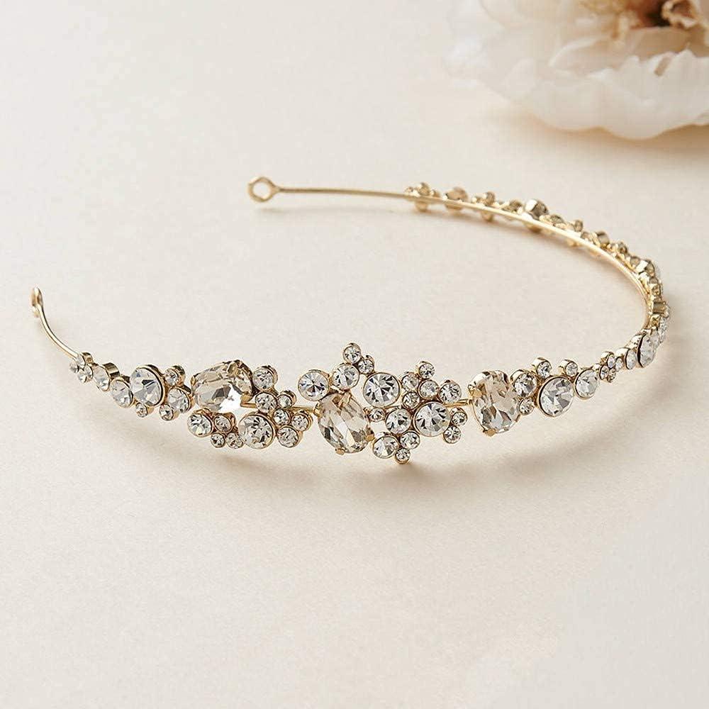 FMOGG Vintage Wedding Tiara Headpiece Bridal Headband Safety Special sale item and trust Rhinestone