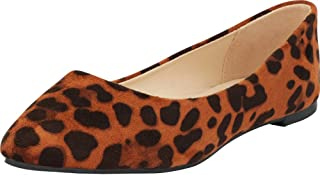 Cambridge Select Women's Classic Closed Pointed Toe Slip-On Ballet Flat