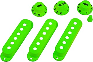 WINOMO Strat Guitar Pickup Covers Knobs Switch Tip Set Green