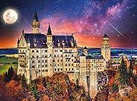 木製のパズル500ピース、城の星空、DIYパズル面白いゲームPuzzle(52×38 CM)